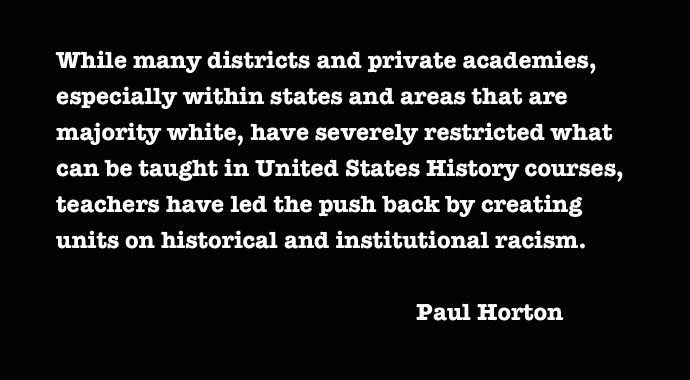 Teaching the History of White Nationalism in the United States
